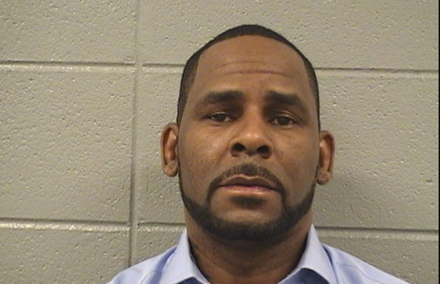 R. Kelly poses for a mugshot photo