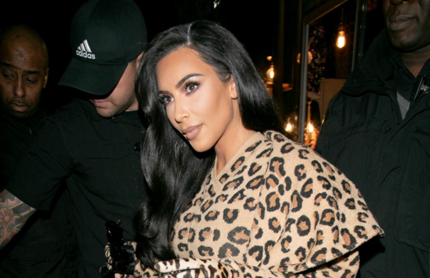 Kim Kardashian is seen on March 05, 2019 in Paris, France