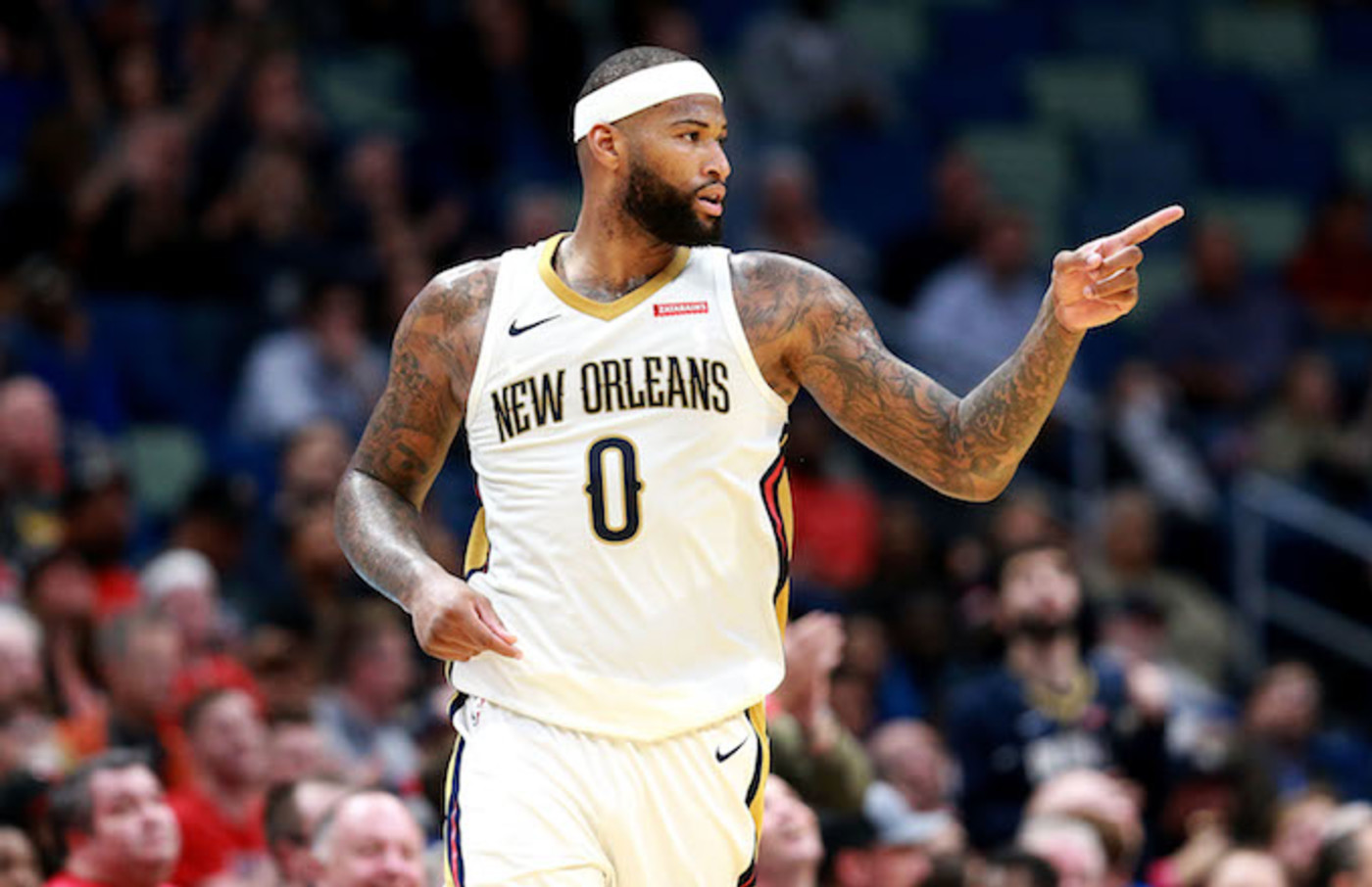DeMarcus Cousins of the Pelicans