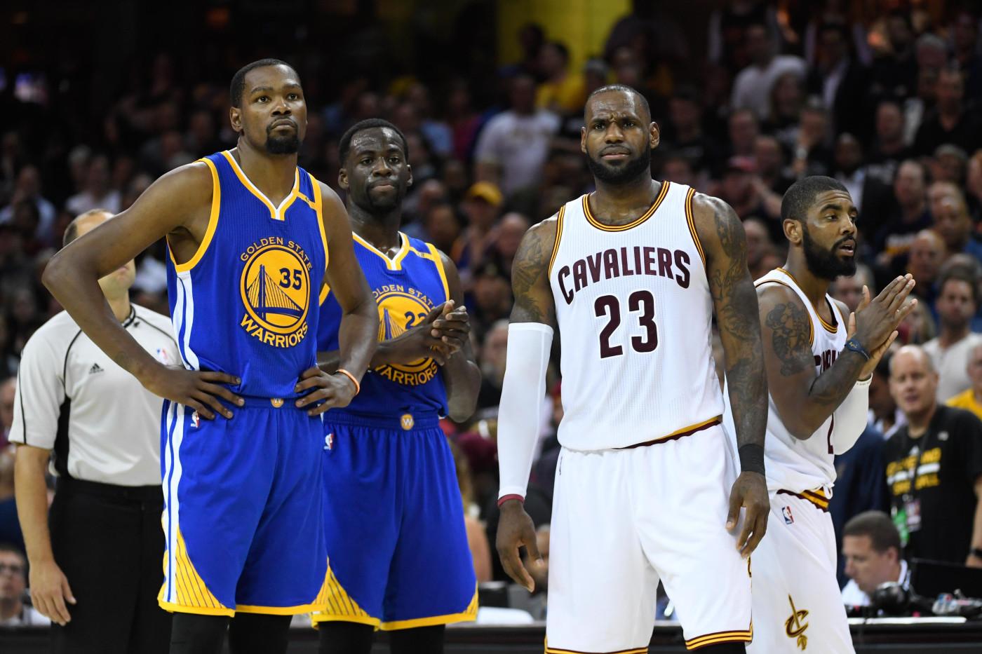 Kevin Durant LeBron James Game 4 NBA Finals 2017