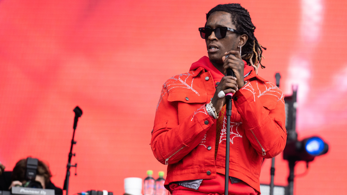 Young Thug performs on stage during Wireless Festival