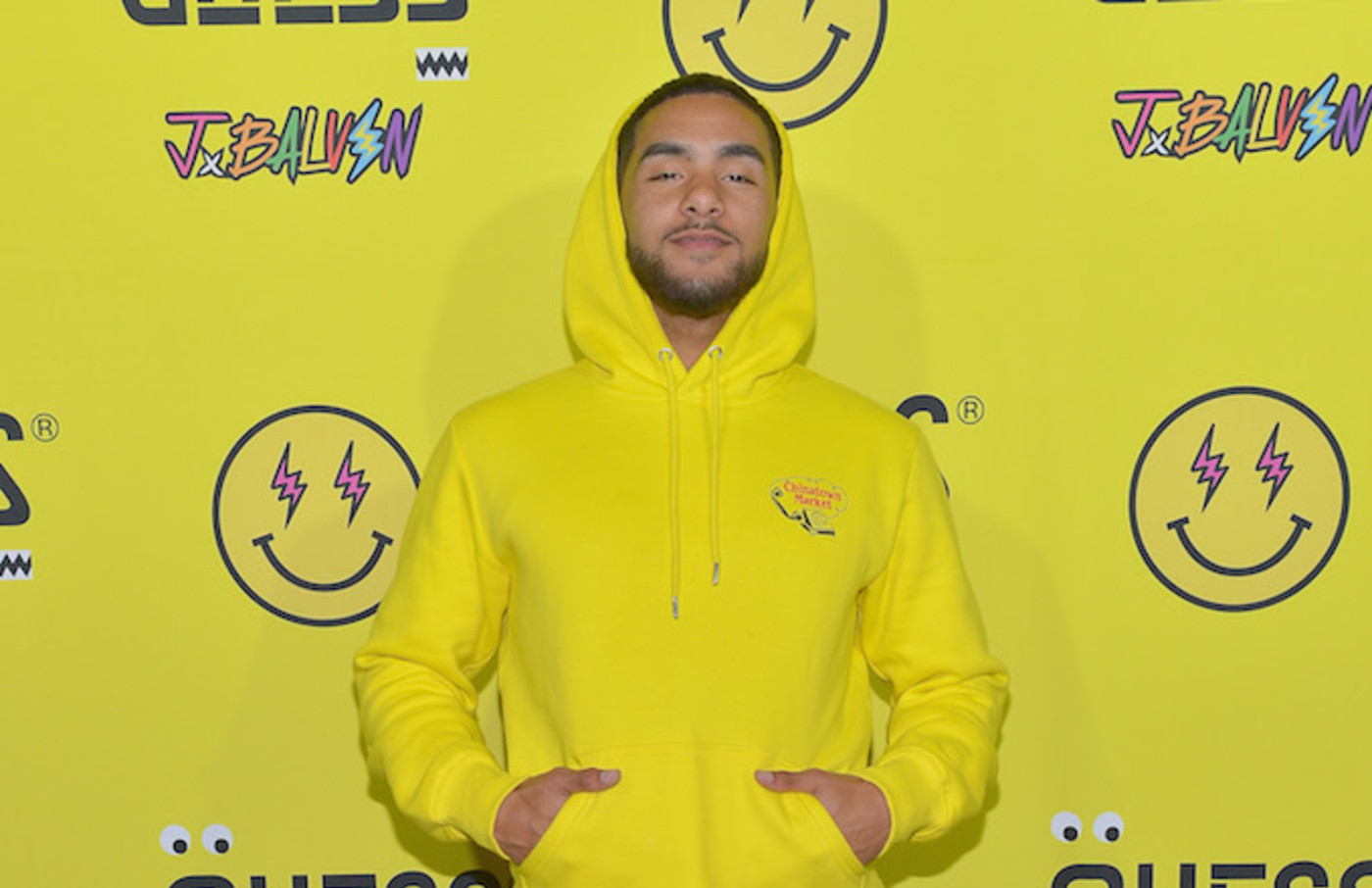 Brother Nature attends GUESS x J Balvin launch party.