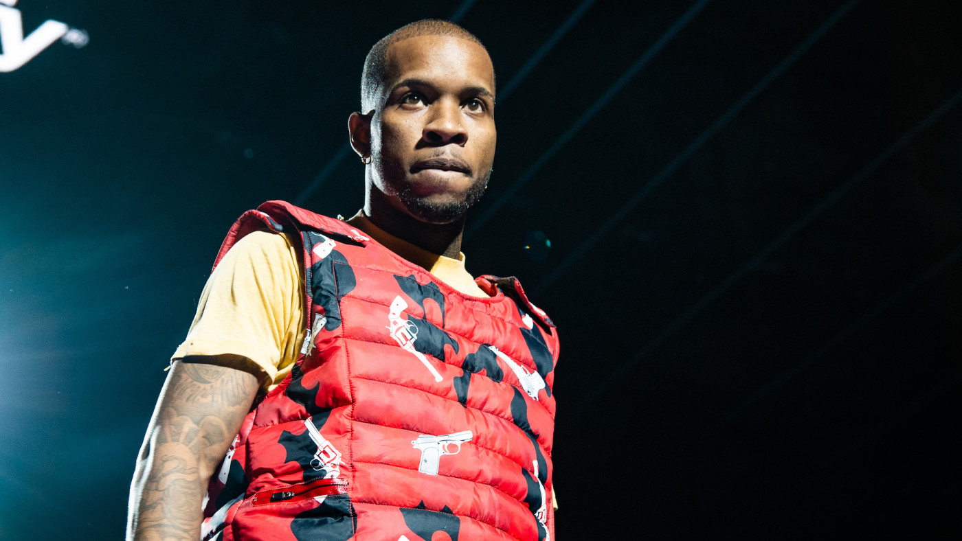 Tory Lanez performs on stage during Spotify Presents: Who We Be Live.