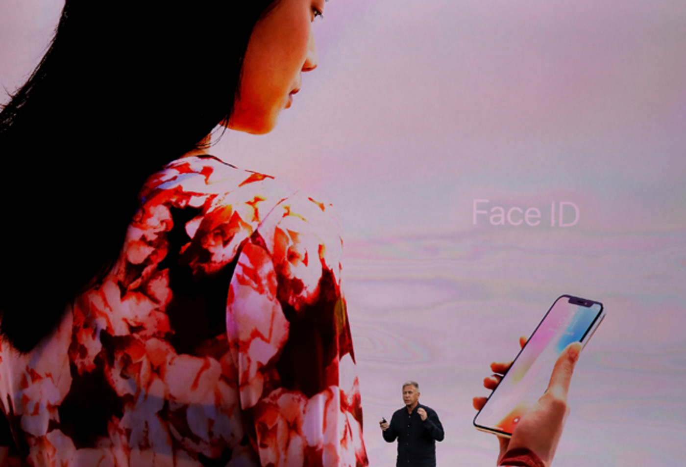 Apple's Phil Schiller speaks during an Apple special event