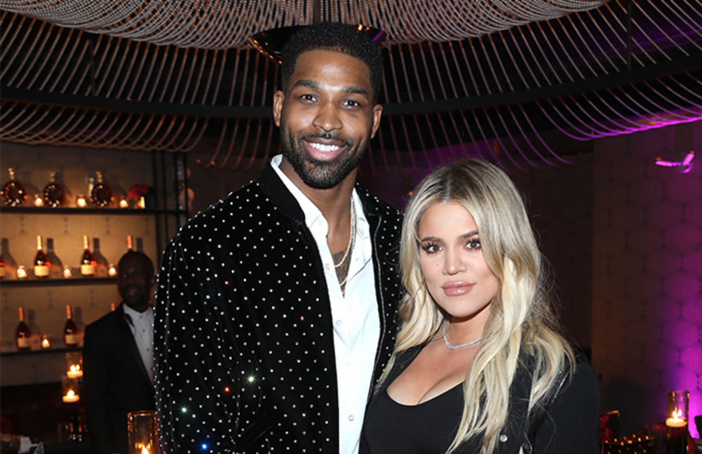 This is a photo of Khloe and Thompson.