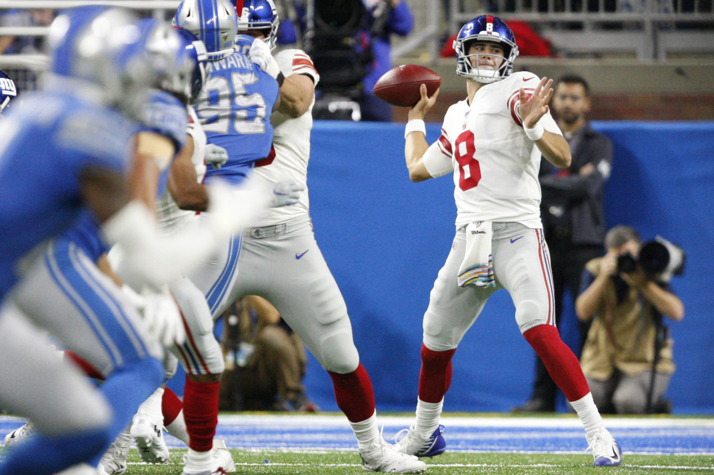 Daniel Jones Giants Lions 2019