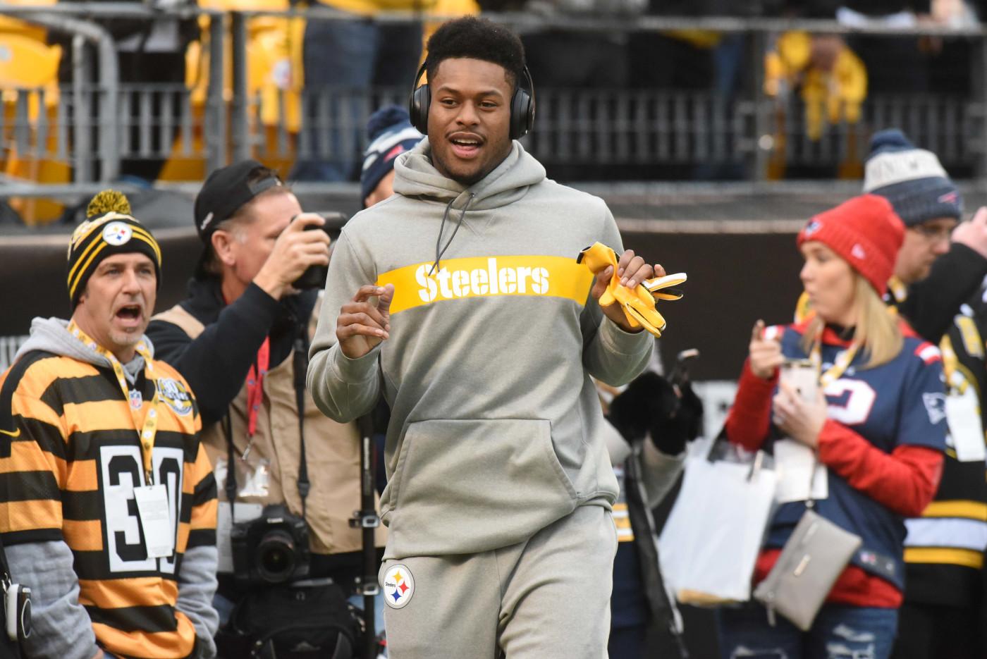 Juju Smith-Schuster Warmups Steelers Patriots 2018