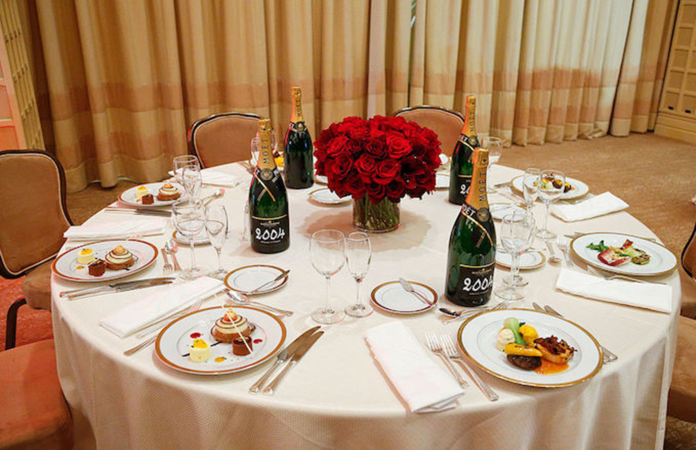 An overall view of table setting