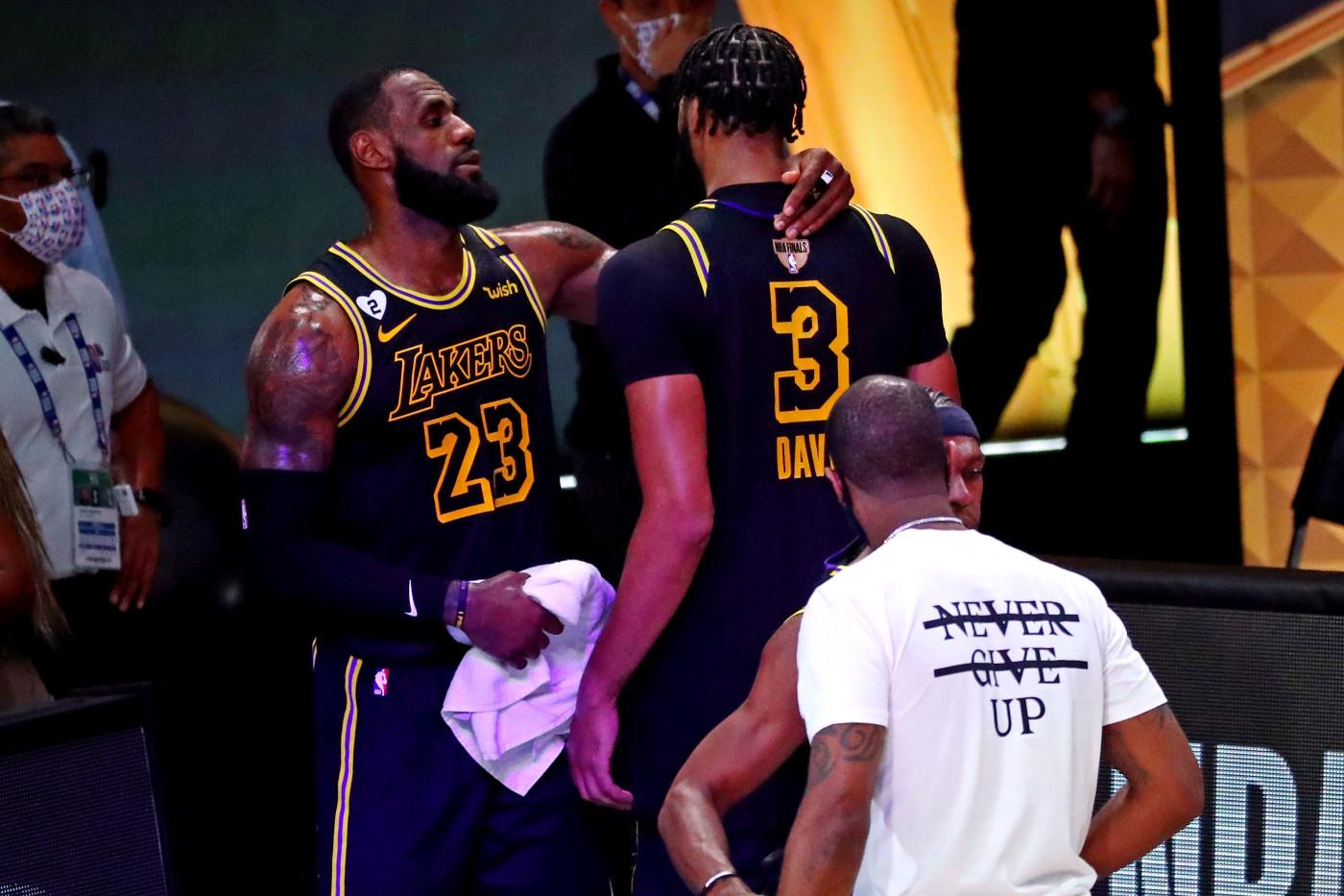 LeBron James Anthony Davis Game 2 NBA Finals 2020