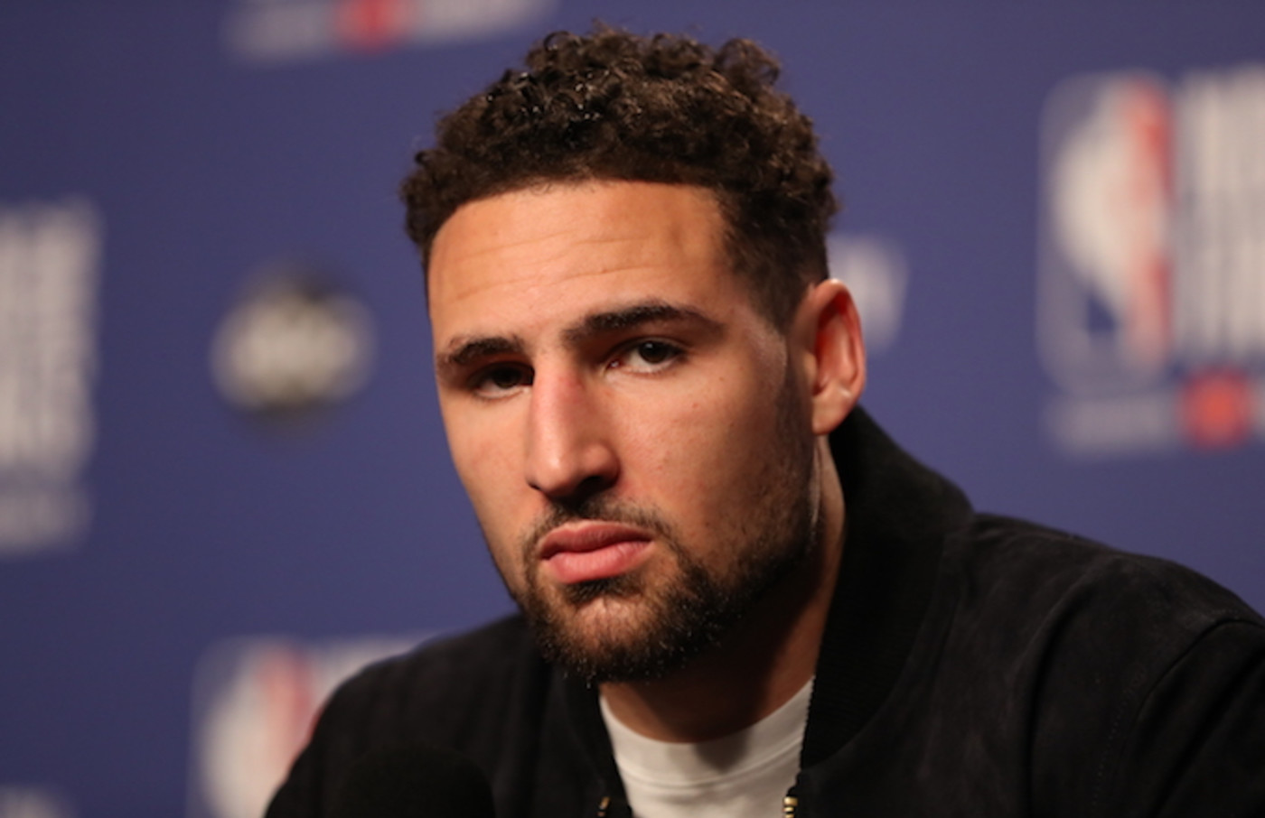 Klay Thompson interviewed after Game Five of the 2019 NBA Finals.