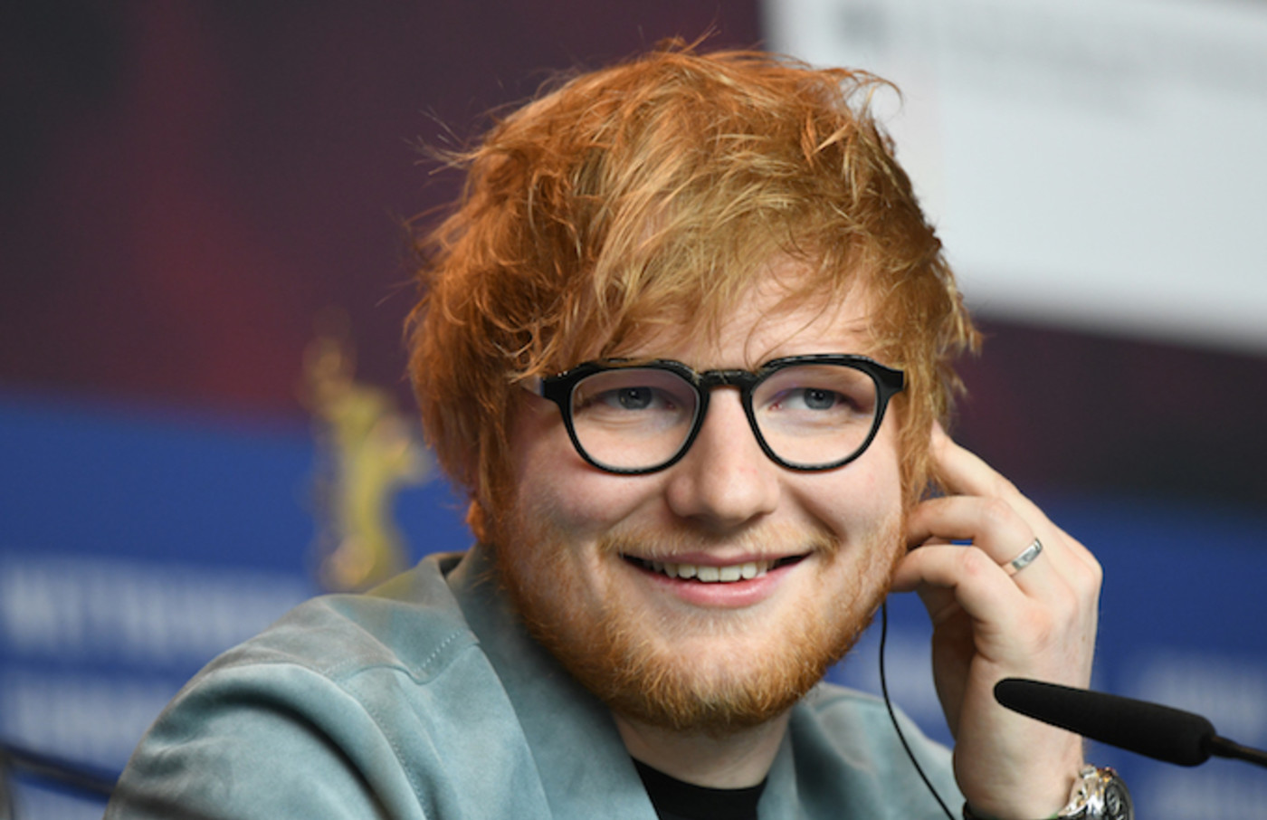 """Ed Sheeran attends a press conference for the film """"Songwriter."""""""