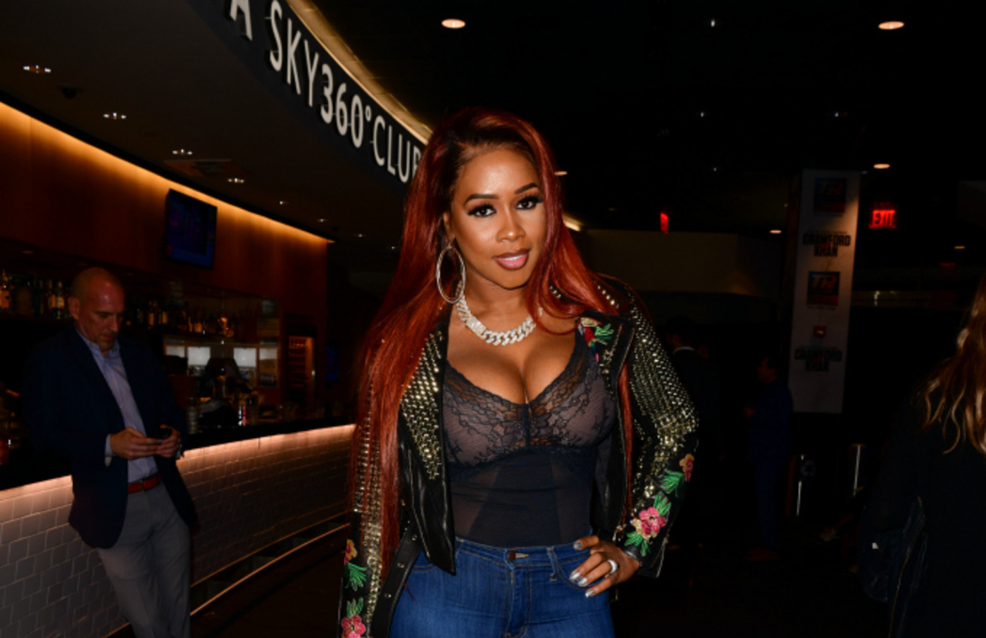 Remy Ma attends Top Rank VIP party prior