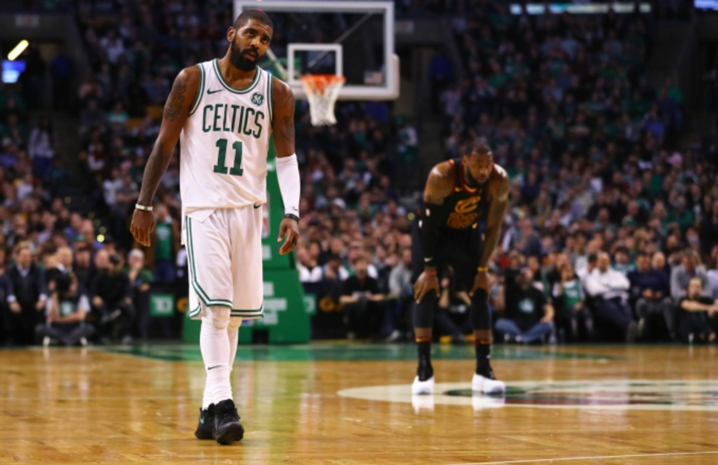 Kyrie Irving and LeBron James.