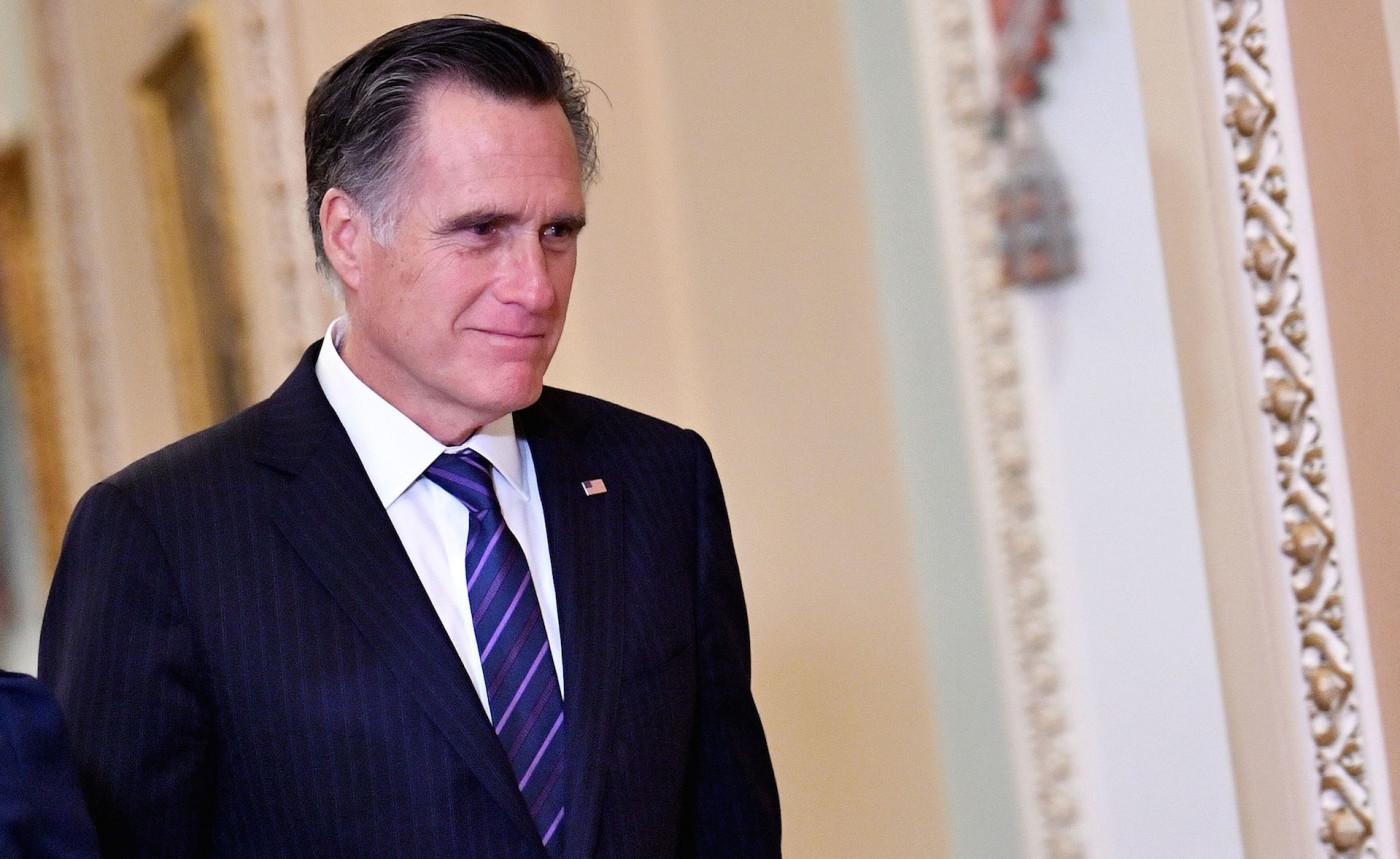 US Senator Mitt Romney (R-UT) is seen during a recess