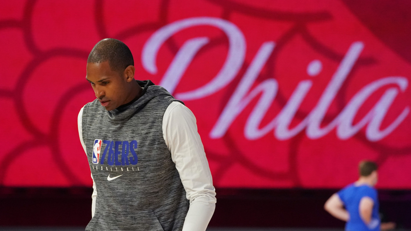 Al Horford looks on before game against the Boston Celtics during Round One of the NBA Playoffs.