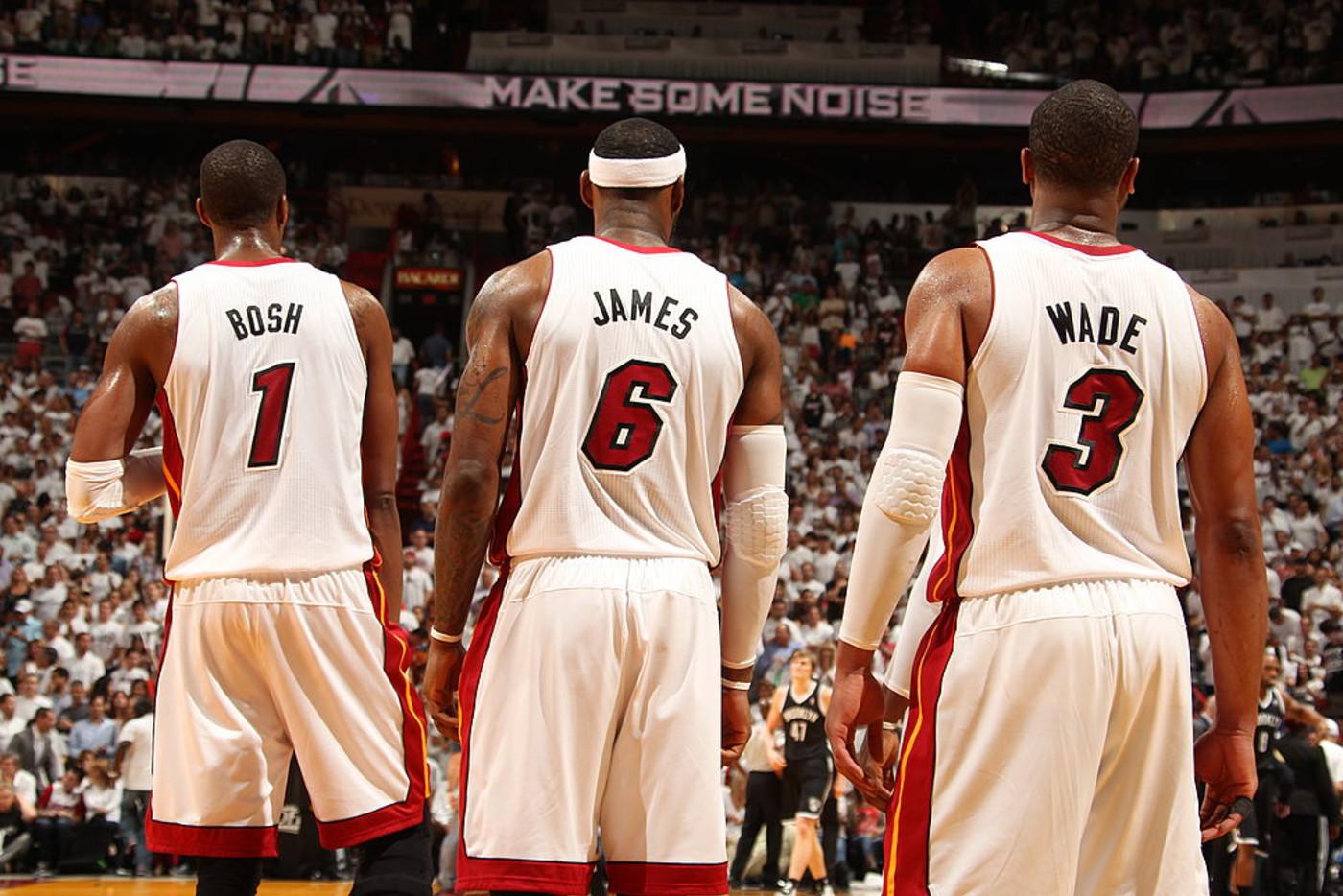 Chris Bosh LeBron James Dwyane Wade Miami Heat 2014