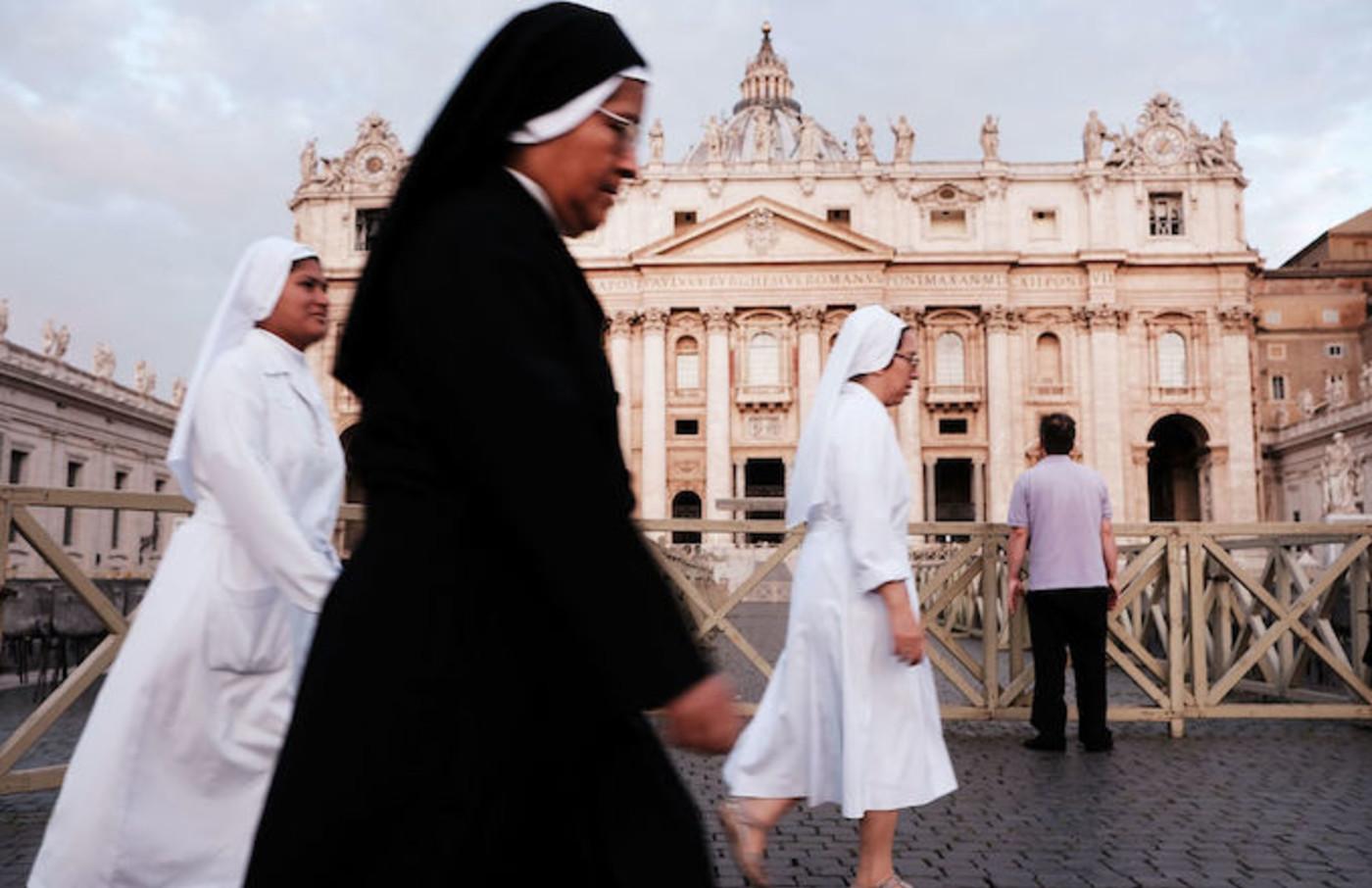 Nun doing nun stuff