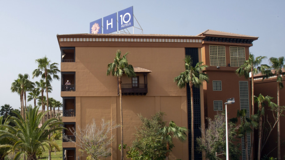 Picture shows a general view of H10 Costa Adeje Palace Hotel in La Caleta.