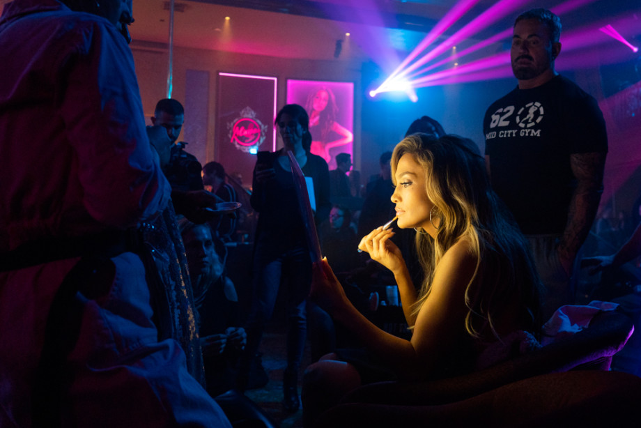 Jennifer Lopez behind the scenes on the set of 'Hustlers'