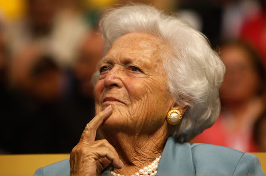 This is a picture of Barbara Bush.