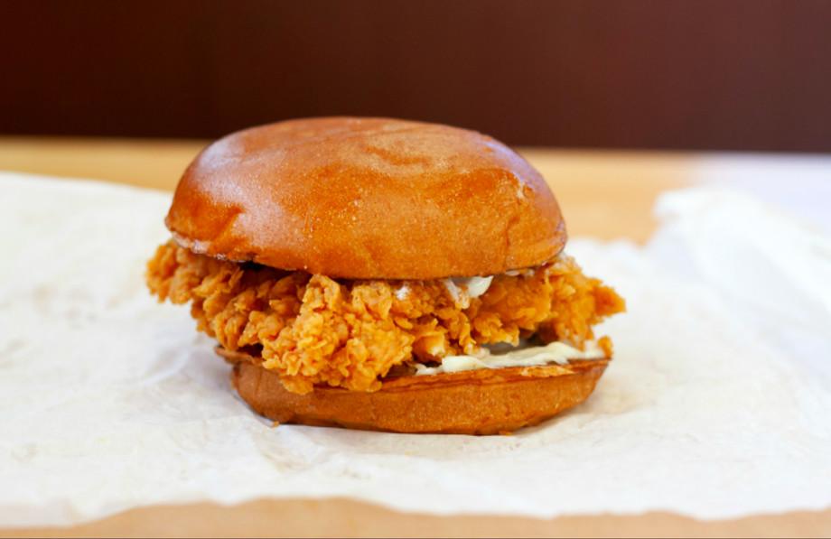 The chicken in Popeyes' sandwich