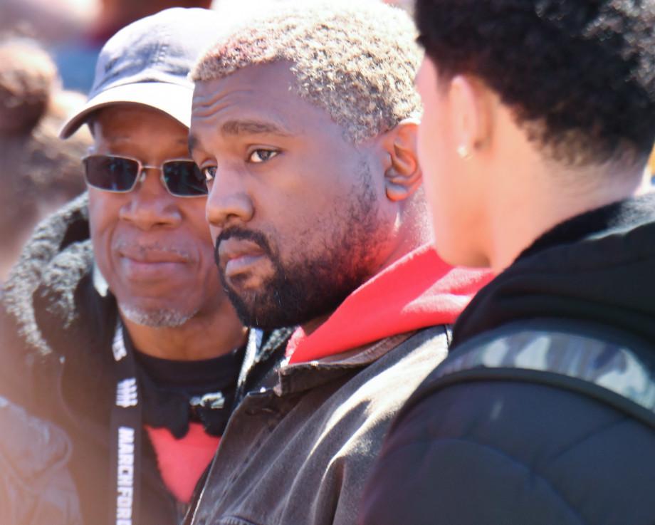 Pensive Kanye West