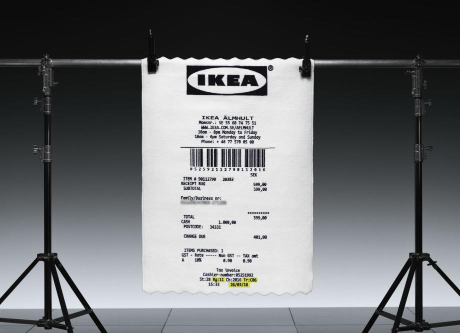 Ikea x Virgil Abloh Makerad Rug Receipt