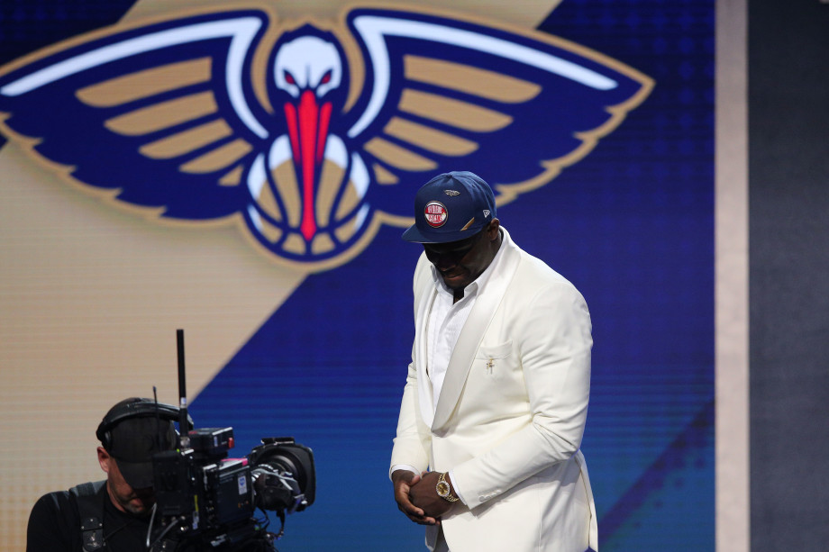 Zion Williamson NBA Draft 2019 Pelicans Logo