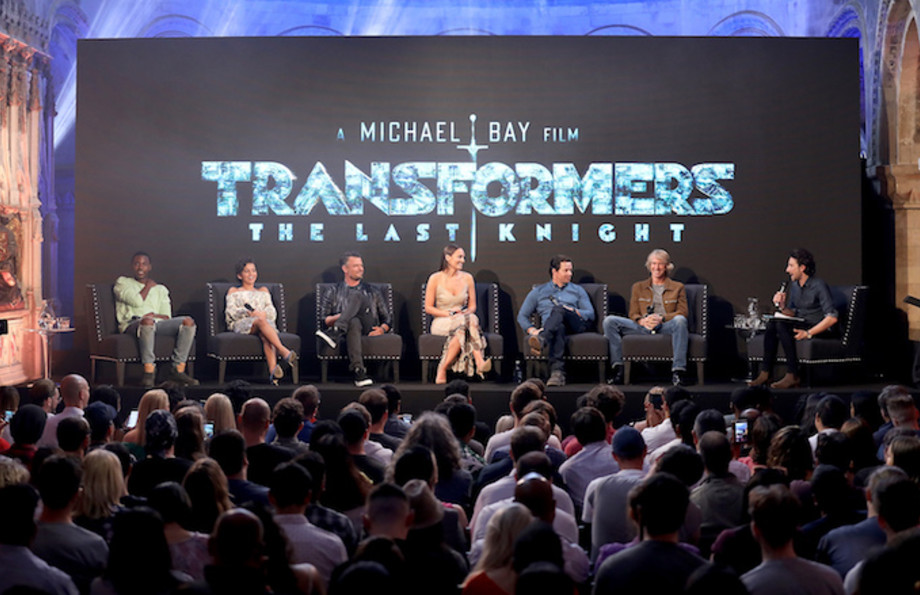 """Transformers: The Last Knight"" cast attend a fan event."