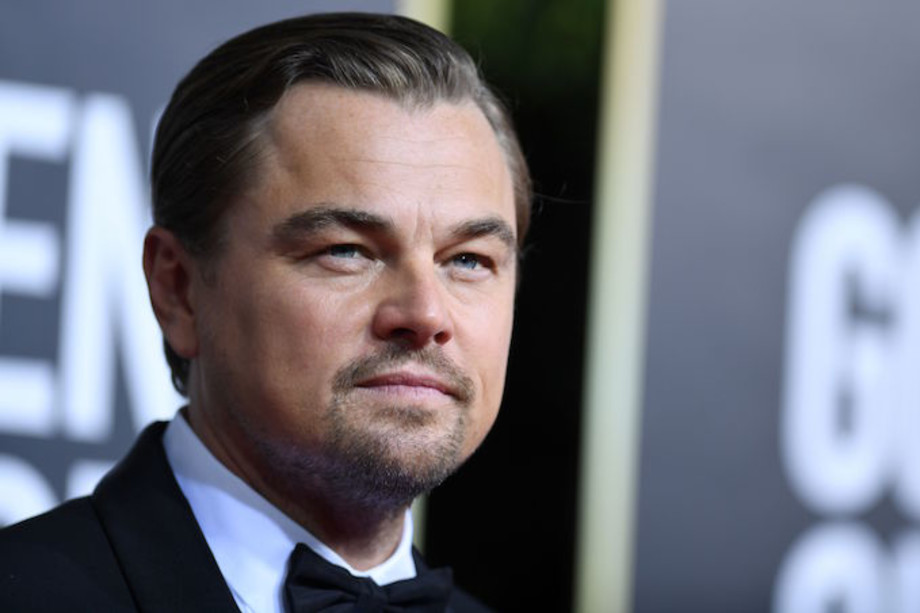 Leonardo DiCaprio arrives for the 77th annual Golden Globe Awards.