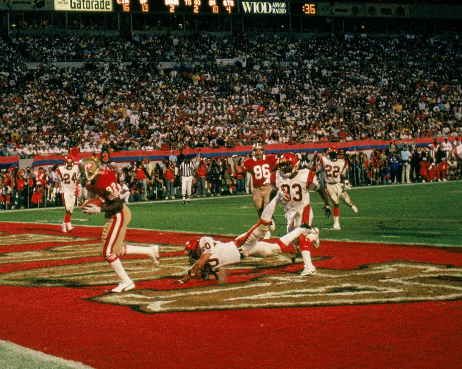 John Taylor catches game-winning touchdown in Super Bowl XXIII