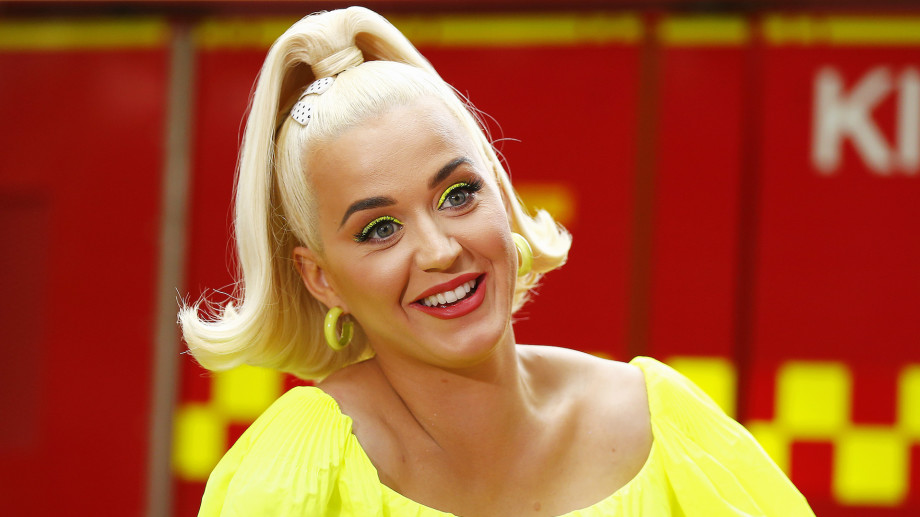 Katy Perry speaks to media on March 11, 2020