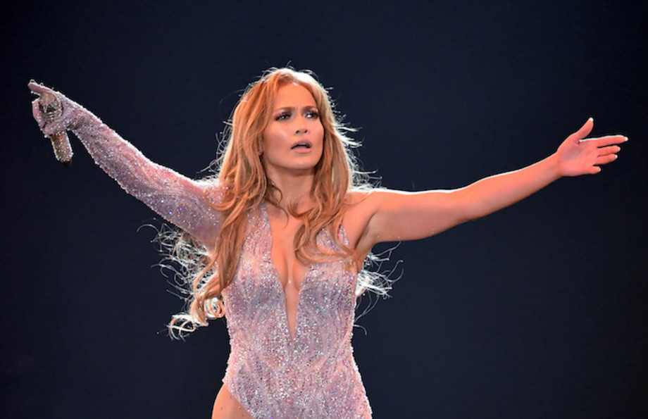 Jennifer Lopez performs onstage during the It's My Party Tour.