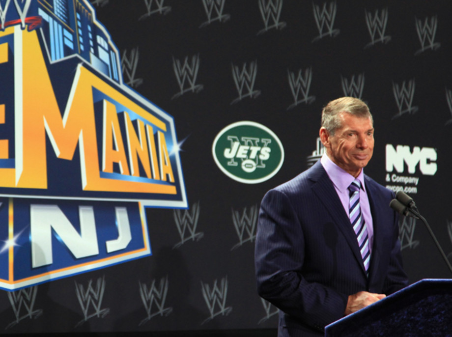 WWE Chairman and CEO Vince McMahon at Wrestlemania XXIX press conference