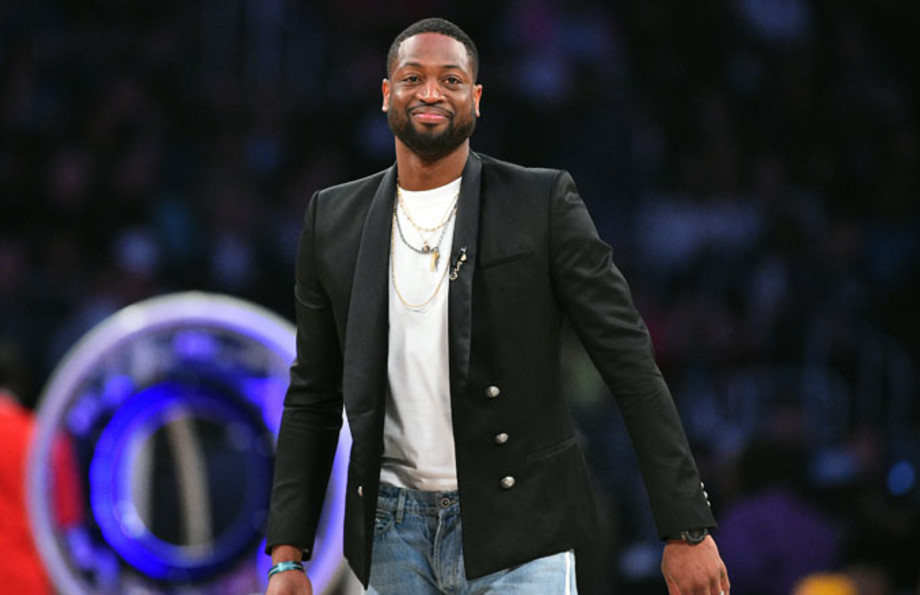 Dwyane Wade at the All-Star Game.