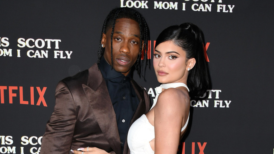 """Travis Scott and Kylie Jenner attend the premiere of Netflix's """"Travis Scott: Look Mom I Can Fly"""""""