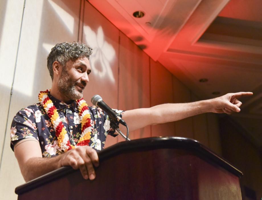 Taika Waititi speaks onstage at the 37th Annual Hawaii International Film Festival Gala