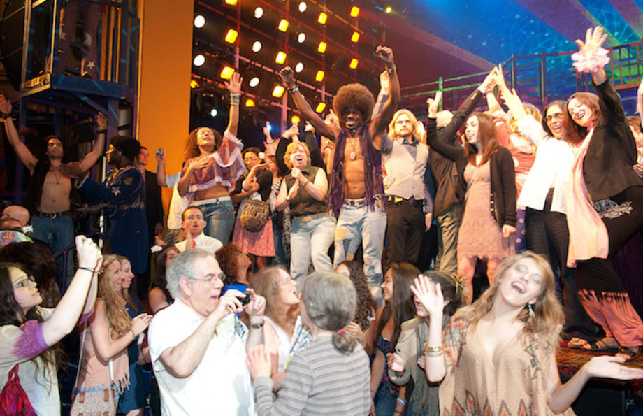 Final performance of 'Hair' on Broadway in 2011.