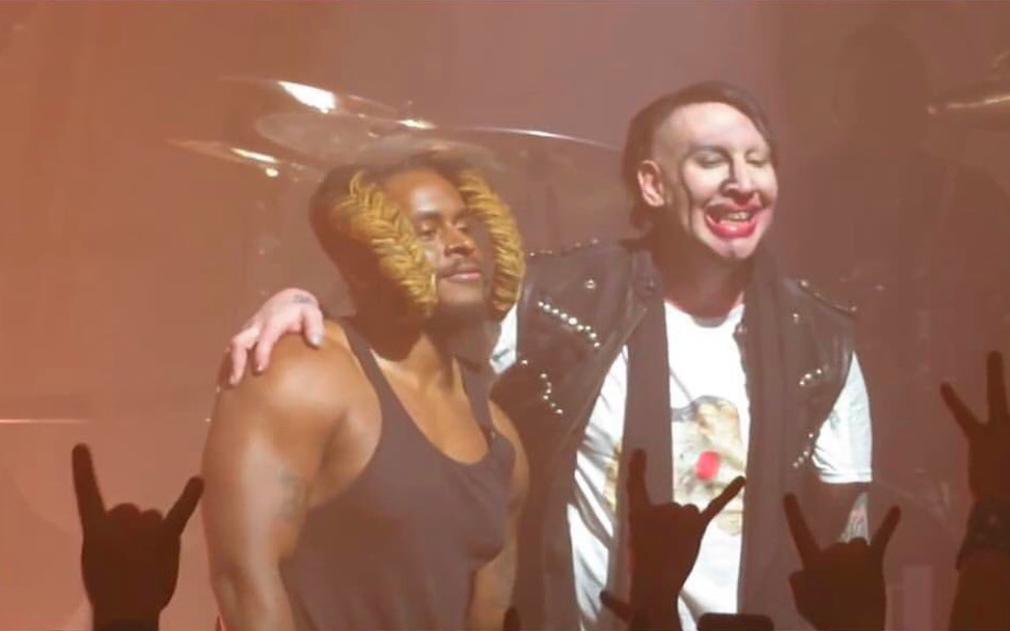 Bill Saber and Marilyn Manson