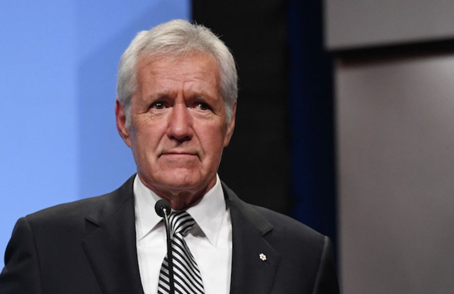 """""""Jeopardy!"""" host Alex Trebek at National Association of Broadcasters Broadcasting Hall of Fame."""
