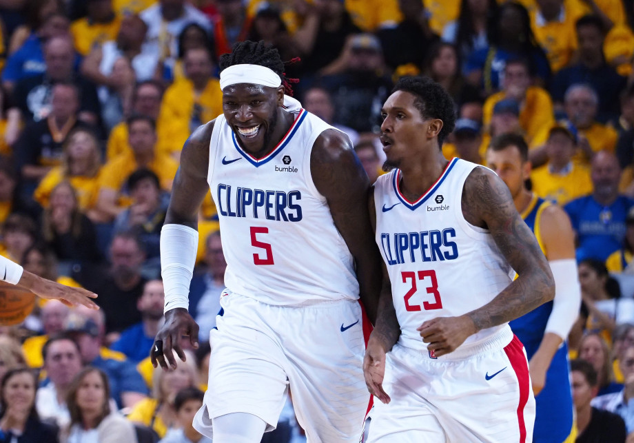 Montrezl Harrell Lou Williams Game 5 2019 NBA Playoffs