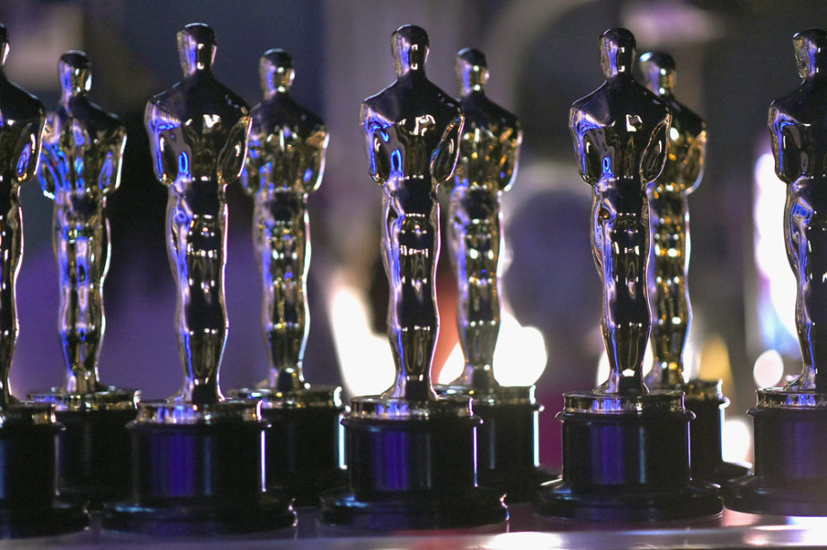 Oscar statues are seen backstage during the 91st Annual Academy Awards