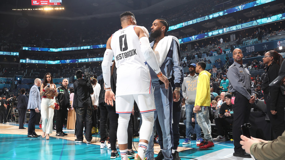 Nipsey Hussle and Russell Westbrook