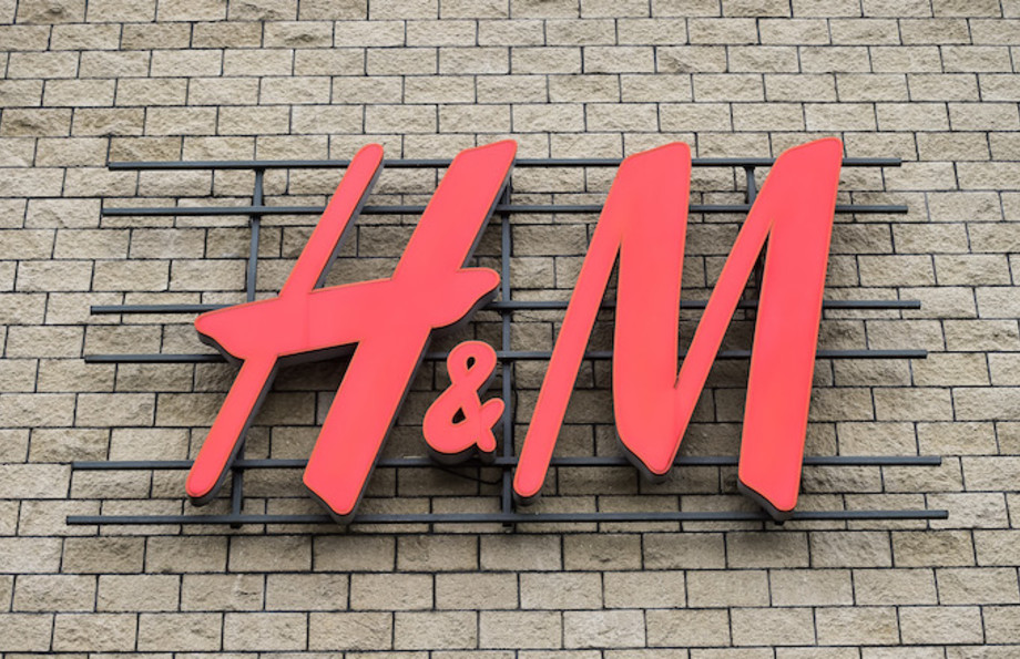 The H&M clothing store logo.