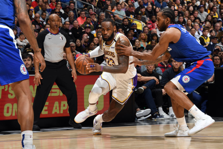 LeBron James Kawhi Leonard Lakers Clippers March 2020