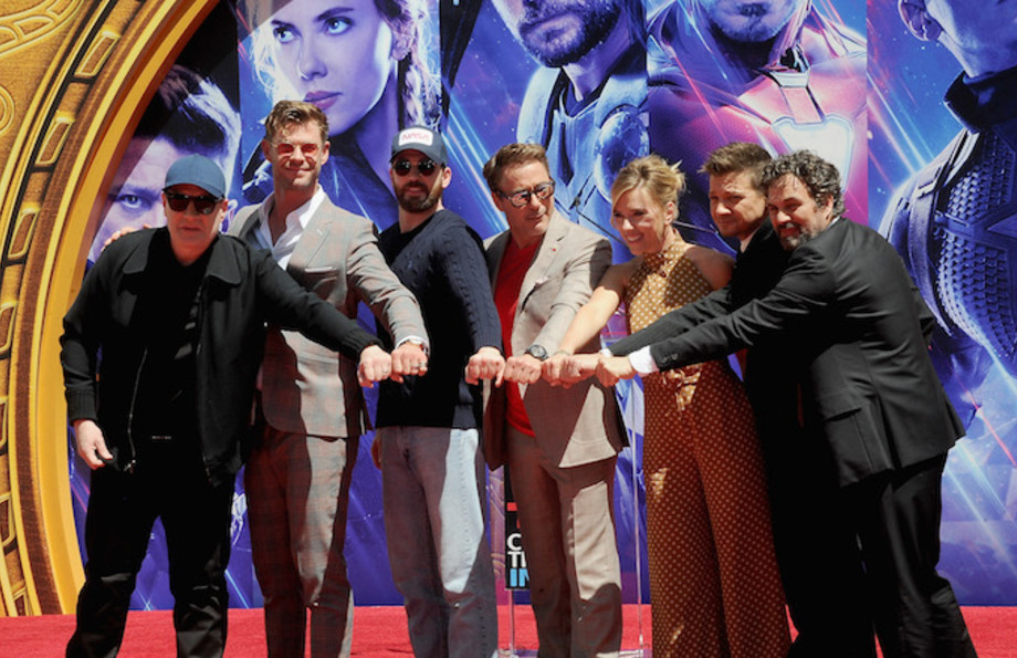 """Marvel Studios' """"Avengers: Endgame"""" Cast Place Their Hand Prints In Cement."""