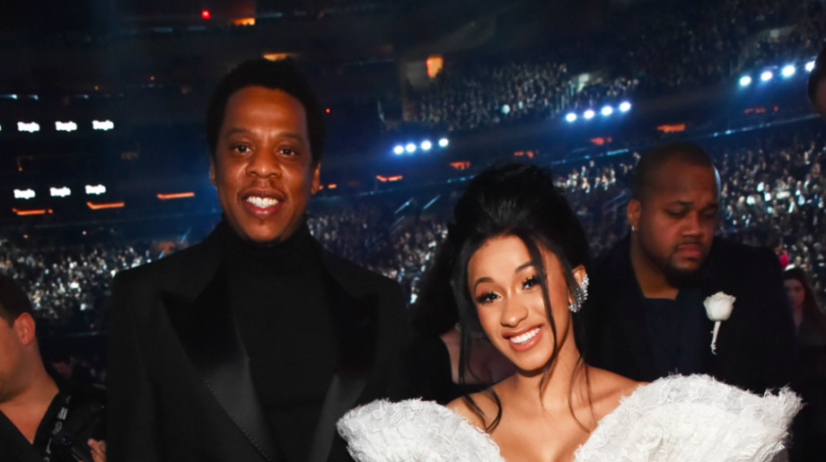 Recording artists Jay Z and Cardi B