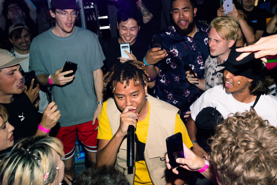 YBN Cordae performs live at Puma's Melbourne store