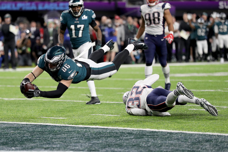 Eagles going for touchdown in Super Bowl LII