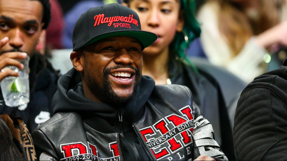 Floyd Mayweather is seen at a game